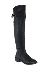 Olivia Miller Erika Buckle Riding Boot Black