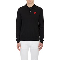 Heart Polo Sweater Black