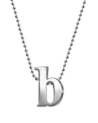 Alex Woo Sterling Silver Little Letter A Necklace 16 Silver B
