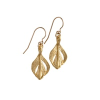 Chupi Tiny Swan Feather Earrings Gold