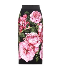 Dolce And Gabbana Printed Pencil Skirt Pink