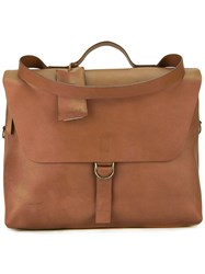 Marsell Flap Briefcase Brown