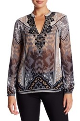Hale Bob Embellished Tunic Blouse Black