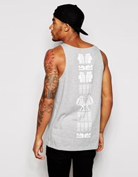 Asos Vest With Aztec Front And Back Print Green