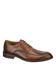Johnston And Murphy Hartley Leather Y Moc Oxfords Brown
