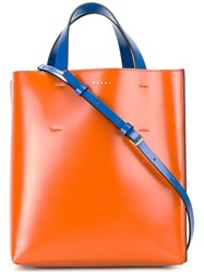 Marni Small Museo Tote Yellow Orange