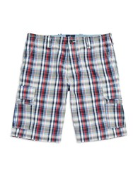 Bugatti Plaid Cotton Shorts Grey