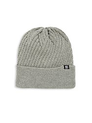 Block Headwear Cross Knit Cuffed Beanie Light Grey