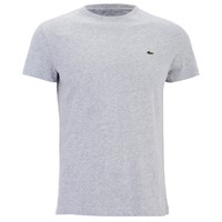 Lacoste Men's Short Sleeve Crew Neck T Shirt Silver Chine Grey