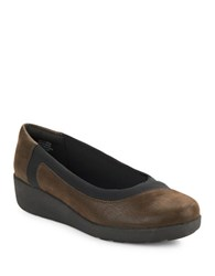 Easy Spirit Kathleen Slip On Wedges Brown