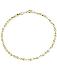 Giani Bernini Twist Link Ankle Bracelet In 18K Gold Plated Sterling Silver Only At Macy's