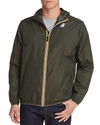 K Way Zip Windbreaker Jacket Green