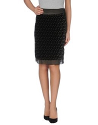 Zinco Knee Length Skirts Black