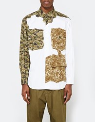 Comme Des Garcons Camo Print Ls Button Up White Camo