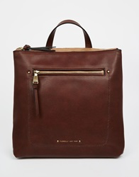 Fiorelli Brodie Zip Top Backpack With Zip Front Pocket Chestnut