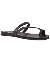 Vince Camuto Evina Jeweled Flat Sandals Women's Shoes Black