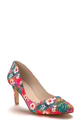 Shoes Of Prey Women's Round Toe Pump Tropical Print Fabric