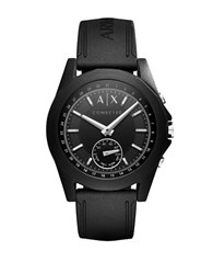 Armani Exchange Connected Drexler Black Dial Silicone Hybrid Smartwatch