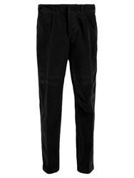 The Gigi Cotton Corduroy Tapered Trousers Black