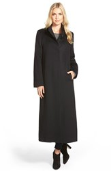 Fleurette Women's Long Wool Coat Black