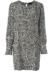 Nili Lotan Leopard Print Dress Black