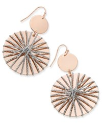 Thalia Sodi Two Tone Wire Wrapped Drop Disc Earrings Only At Macy's