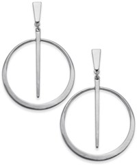 Inc International Concepts Gold Tone Circle And Spike Drop Earrings Only At Macy's Silver