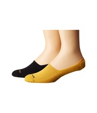 Cole Haan 2 Pack Casual Cushion Liner Navy Golden Yellow Men's Crew Cut Socks Shoes