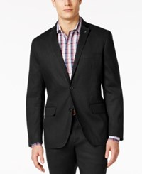 Inc International Concepts Men's Slim Fit Stretch Linen Blazer Only At Macy's Black