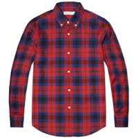 Head Porter Plus Check Spirit Raglan Shirt Red