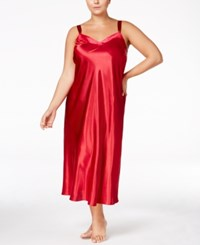 Thalia Sodi Plus Size Velour Trimmed Nightgown Only At Macy's Red