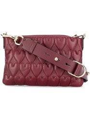 Red Valentino Beating Hearts Shoulder Bag Pink And Purple