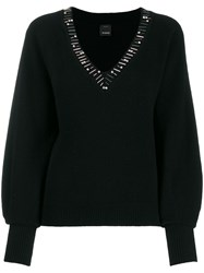 Pinko Knitted Jumper Black