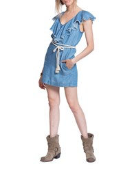 Plenty By Tracy Reese Frayed Popover Dress Chambray
