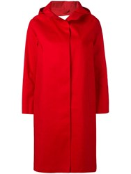 Mackintosh Hooded Coat Red