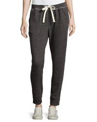 James Perse Drawstring Terry Cloth Sweatpants Charcoal