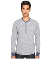 Jack Spade Caine Marled Henley Blue Men's Clothing