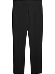Burberry Front Pleat Trousers Black