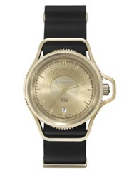Givenchy Seventeen Gold Plated Stainless Steel Watch Black Gold