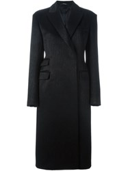 Maison Martin Margiela Tailored Long Coat Black