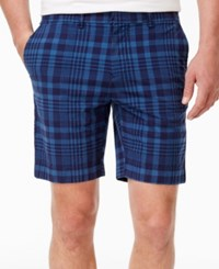 Tommy Hilfiger Men's Matthew Plaid Shorts Ensign Blue