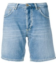 Dondup Straight Fit Shorts Blue