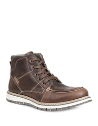 Gbx Duce Moc Toe Leather Boots Tan
