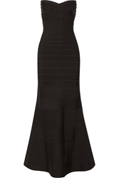 Herve Leger Sara Strapless Bandage Gown