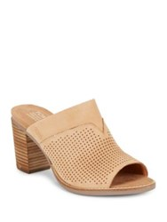 Toms Majorcamul Perforated Leather Mules Medium Brown