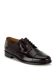 Cole Haan Caldwell Patent Leather Oxfords Burgundy