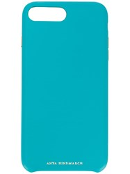 Anya Hindmarch 115087 Turquoise Iphone 7 8 Plus Blue