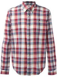 Barbour Button Down Oscar Shirt Red