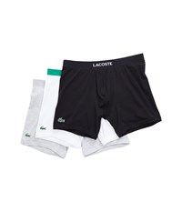 Lacoste Colours 3 Pack Boxer Brief Black Assorted Underwear Multi