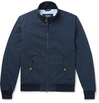 J.Crew Cotton And Nylon Blend Blouson Jacket Navy